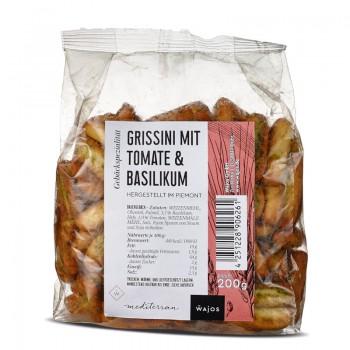 Grissini mit Tomate und Basilikum