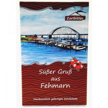 "Zartbitter-Schokolade ""Süßer Gruß aus Fehmarn"""