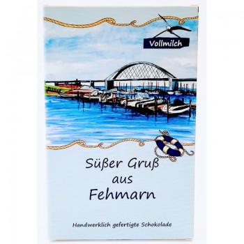 """Vollmilch-Schokolade """"Süßer Gruß aus Fehmarn"""""""